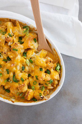 Low-carb cauliflower mac and cheese