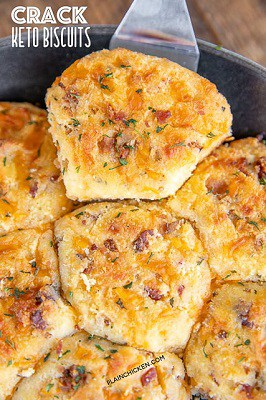 Cracked keto biscuits