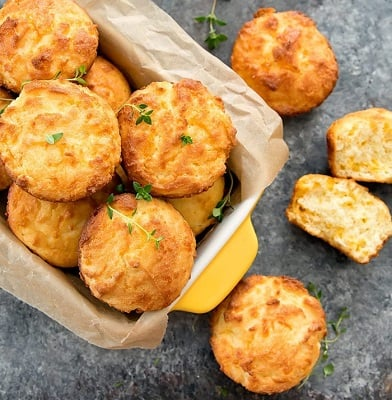 Fluffy low carb biscuits