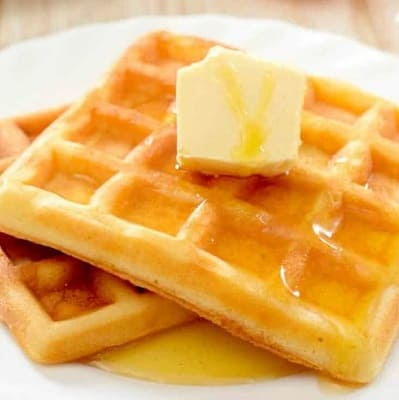 Egg fast diet waffles with butter on top