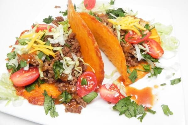 Easy keto ground beef tacos