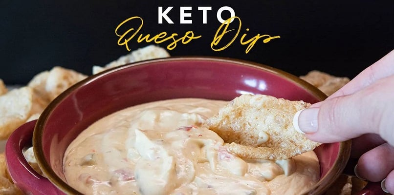Easy queso dip that's safe for keto