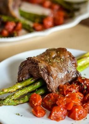 Keto steak wrapped asparagus