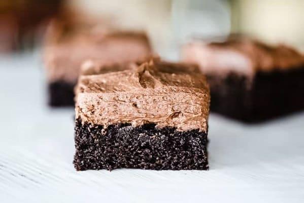 Keto chocolate cake on baking paper