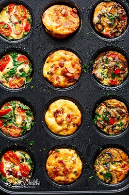 3 way keto egg muffin cups