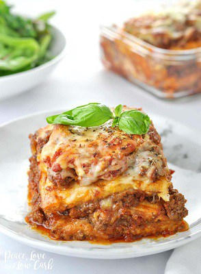 Jut like the real thing lasagna on a plate