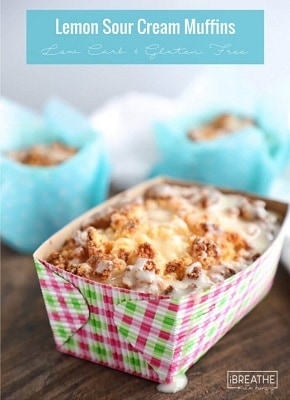 Low carb sour cream muffins