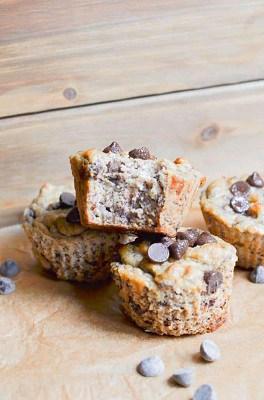 Banana chocolate keto muffins