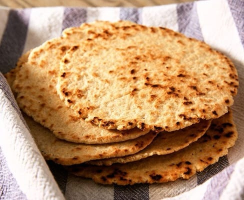 Simple and easy stack of low carb tortillas