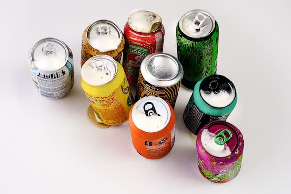 Collection of soda cans